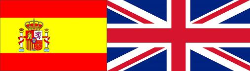 bandiera spagnola e inglese